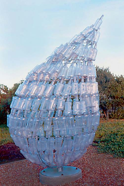 recycled plastic bottles as art