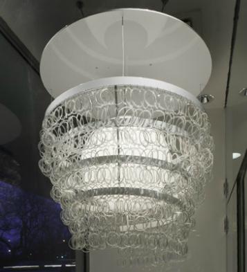 Kathleen plate sustainable lighting artist and recycled glass smart glass guggenheim chandelier aloadofball Gallery