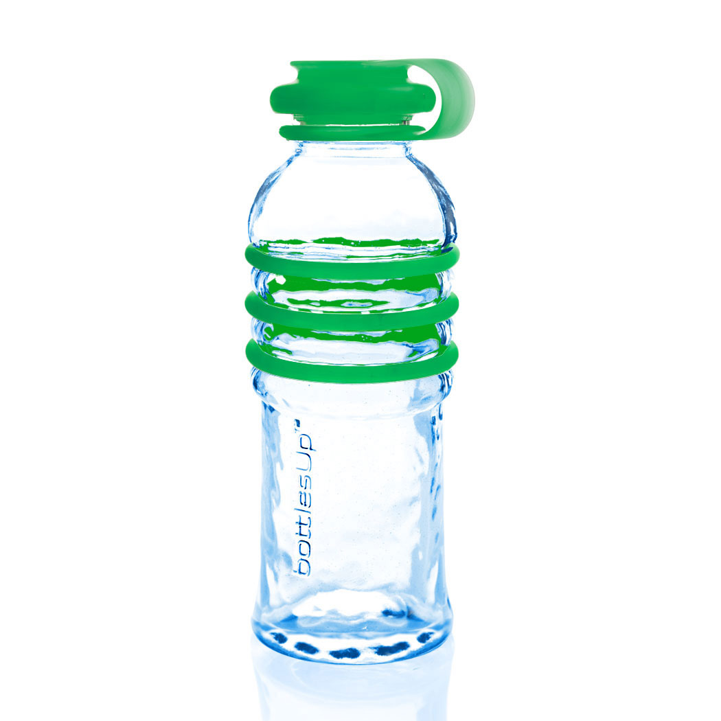 Bottlesup reusable glass water bottle made with 75 for Making glasses from bottles