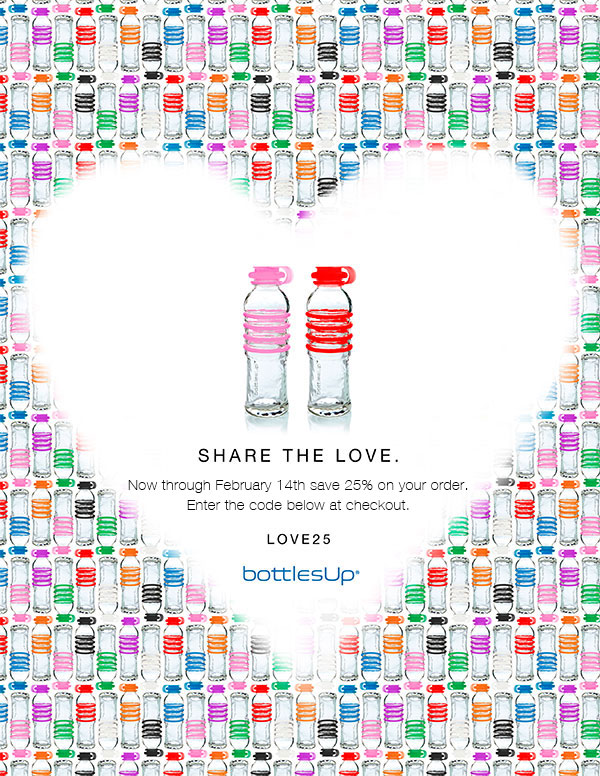 Glass Water Bottles Valentine's Deal